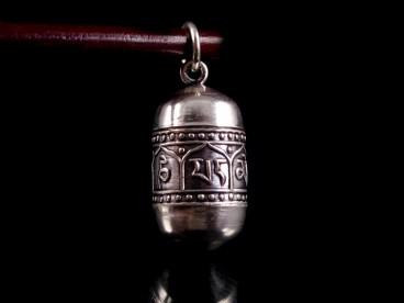 PA157 Pendentif Argent Massif Mantra Om Mani Padme Hum