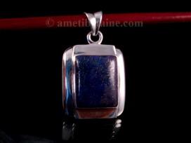 PA317 Pendentif Tibétain Argent Massif Lapis Lazuli