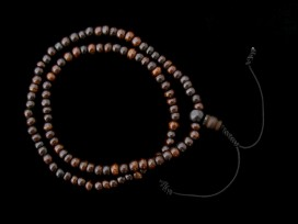 Mala84 Mala de Prières Os de Buffle Tibet Elastique
