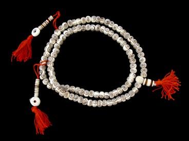 Mala92 Mala de Prières Os de Buffle Tibet