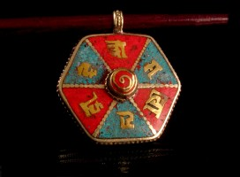 PD40 Pendentif Tibétain Mantra
