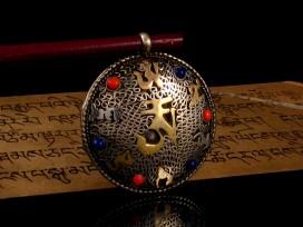 PD69 Pendentif Tibétain Om Mantra