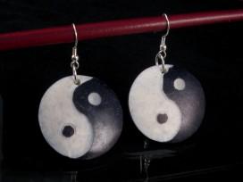 BdOD04 Boucles d'Oreille Tibétaines Yin Yang
