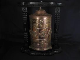 RP63 Roue à Prières Tibétaine Mantra Astamangala Dorje