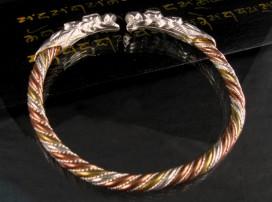 BRA08 Bracelet Dragon 3 Métaux: Argent, Laiton et Cuivre