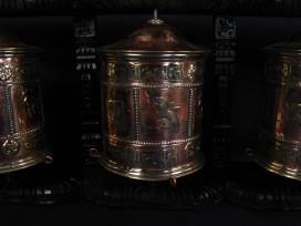 RP73 Roue à Prières Tibétaine Mantra Astamangala
