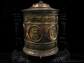 RP84 Roue à Prières Tibétaine Mantra