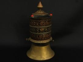 RP86 Roue à Prières Tibétaine Mantra Astamangala