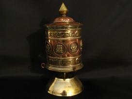 RP87 Roue à Prières Tibétaine Mantra Astamangala