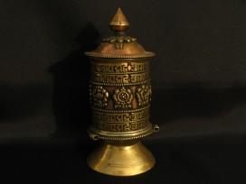 RP89 Roue à Prières Tibétaine Mantra Astamangala