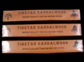 Ens03 Lot de 3 Boites d'Encens Tibétain Bois de Santal