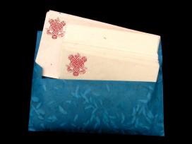 PL22 Papier à Lettre Népalais Noeud Sans Fin