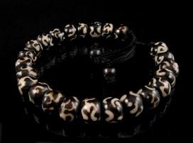 BrMala09 Bracelet Mala Os de Buffle Om