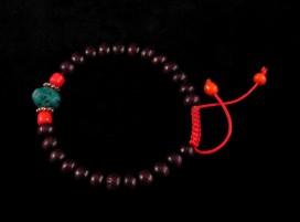 BrMala38 Bracelet Mala Bois de Rose