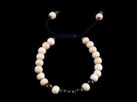 BrMala127 Bracelet Mala Os de Buffle