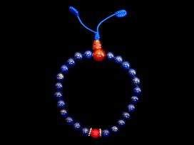 BrMala190 Bracelet Mala Lapis Lazuli