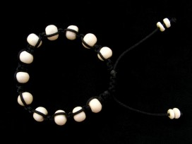 BrMala211 Bracelet Shambhala Os de Buffle