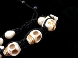 BrMala217 Bracelet Shambhala Crâne Os de Buffle
