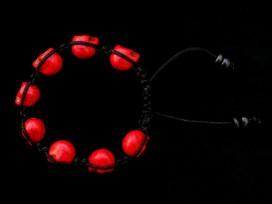 BrMala218 Bracelet Shambhala Crâne Os de Buffle