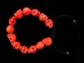 BrMala220 Bracelet Mala Tibétain Crâne Os de Buffle