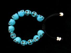 BrMala221 Bracelet Mala Tibétain Crâne Os de Buffle