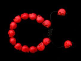 BrMala223 Bracelet Mala Tibétain Crâne Os de Buffle
