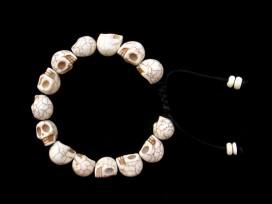 BrMala224 Bracelet Shambhala Crâne Os de Buffle