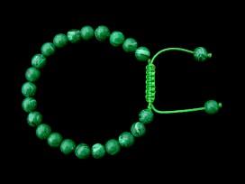BrMala262 Bracelet Mala Malachite