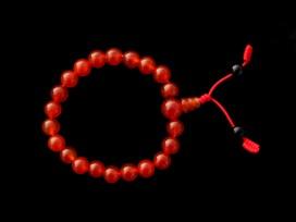 BrMala273 Bracelet Mala Cornaline