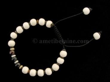 BrMala278 Bracelet Mala Os de Buffle