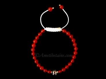 BrMala291 Bracelet Mala Cornaline