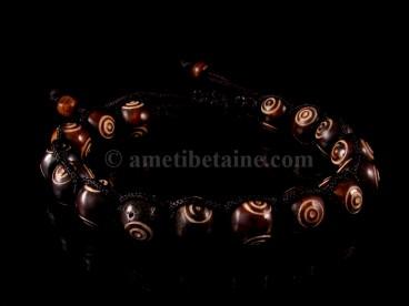 BrD212 Bracelet Tibétain Os de Buffle