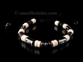 BrD213 Bracelet Tibétain Os de Buffle