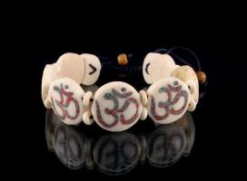 BRD95 Bracelet Os de Buffle Om