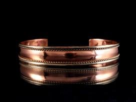 BRD142 Bracelet Tibétain Métal Argenté Cuivre Laiton