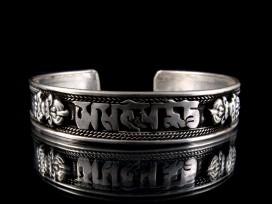 BRD155 Bracelet Tibétain Mantra Om Mani Padme Hum Dorje
