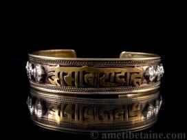 BRD184 Bracelet Tibétain Mantra Om Mani Padme Hum Dorje
