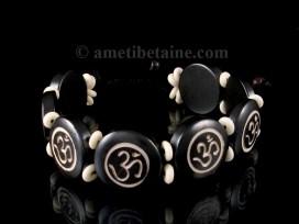 BRD209 Bracelet Os de Buffle Om