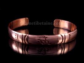 BRD241 Bracelet Tibétain Cuivre Om