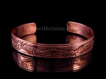 BRD246 Bracelet Tibétain Cuivre Dragon