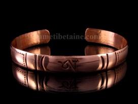 BRD240 Bracelet Tibétain Cuivre Om