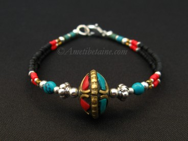 BRD278 Bracelet Tibétain 17 cm