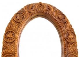 Mir02 Miroir Signes Auspicieux du Bouddhisme Astamangala