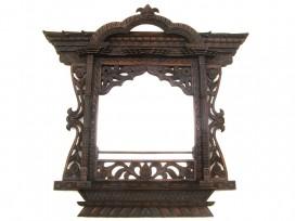 Mir03 Miroir Fenêtre Népalaise Traditionnelle