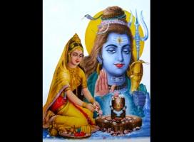 F01 Faïence Shiva et Parvati Dieu et Déesse Hindous -