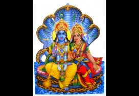 F03 Faïence Vishnu Laxmi Dieu et Déesse Hindous