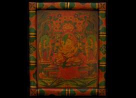 PNT03 Peinture Tibétaine Thangka Ganesh Astamangala