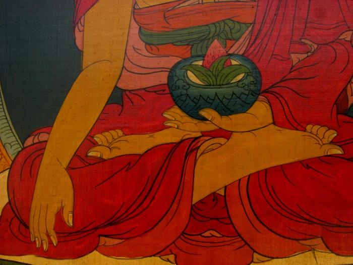Pnt04 peinture tib taine bouddha thanka toile deco tibetaine bouddhiste - Peinture sur toile bouddha ...