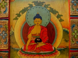PNT06 Peinture Tibétaine Bouddha