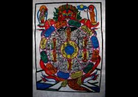 AF15 Affiche Tibétaine Papier Népalais Bouddha